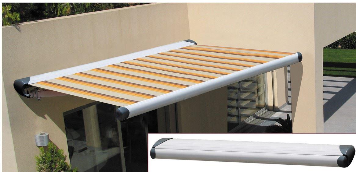 Rollersur toldo brazo invisible smartbox tela lona for Recambios de telas para toldos